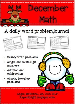 December Math: Daily Word Problems