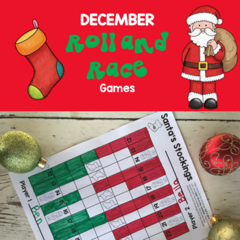 First Grade December Math Games: No Prep