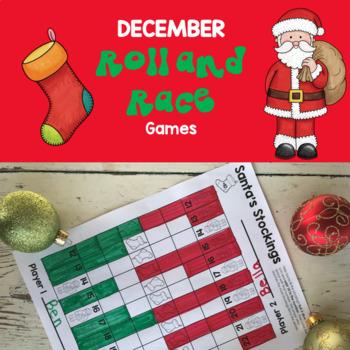 December Math Games: First Grade No Prep