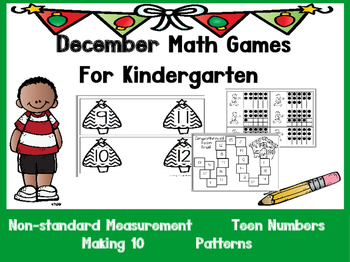 December Math Games for Kindergarten