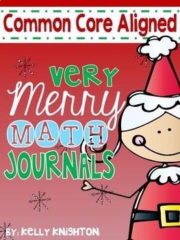 December Math Interactive Journal {FIRST GRADE}