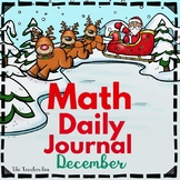 Kindergarten-Special Education - Math Daily Journal-December
