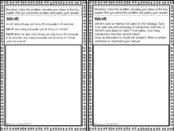 December Math Journal Error Analysis and Problem Solving 3rd Grade