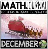 December Math Journal (Kindergarten - Common Core)