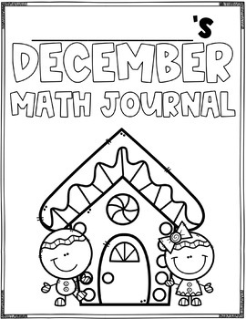 December Math Journal (1st Grade)