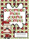 December Math Journal Prompts (First Grade)