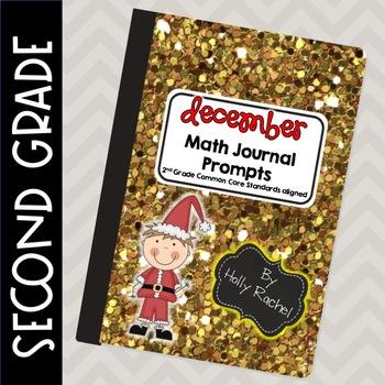 December Math Journal Prompts Second Grade