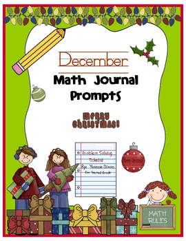 December Math Journal Prompts {Tickets}