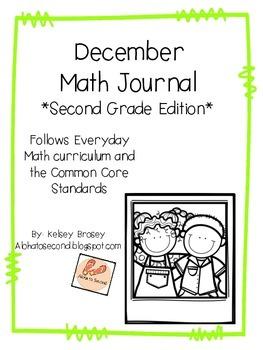 December Math Journal Second Grade