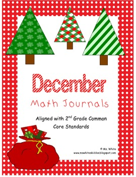 December Math Journal: Second Grade Common Core