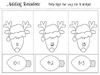 December Math Journal for First Grade