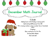 December Math Journal for First Grade