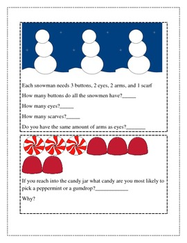 December Math Journal for K and 1st
