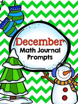 December Math Journals