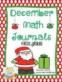 December Math Journals {First Grade}