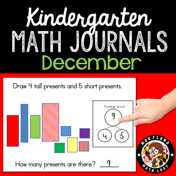 December Math Journals with Number Bonds: Kindergarten