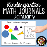January Math Journals with Number Bonds: Kindergarten