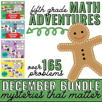 December Math Learning League Adventures- 5th Grade *GROWING BUNDLE*