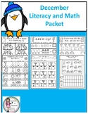 December Math & Literacy Activities-No Prep