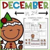 December Math & Literacy Center Activities 2nd Grade CCSS