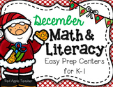 December Math & Literacy Centers for K-2