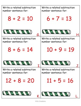 December Math & Literacy Centers/Task Cards for Second Grade