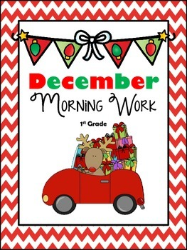 December Math & Literacy Morning/Homework CCSS Aligned
