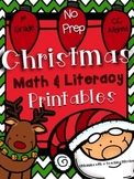 December Math & Literacy Printables NO PREP
