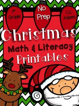 December Math & Literacy Printables NO PREP