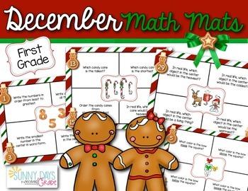 December Math Mats {first grade}