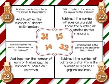 December Math Mats {second grade}