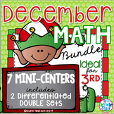 December Math Mini Center Bundle Grade 2-4