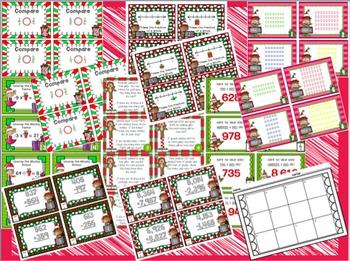 December Math Mini Center Bundle Grade 2-4