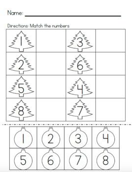 December Math Pack - Special Education