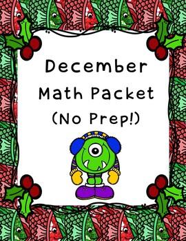 December Math Packet (No Prep!)