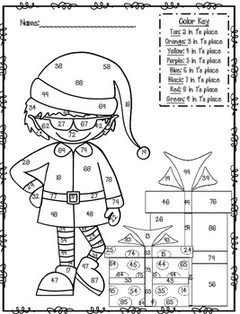 December Math Pages (color math printables)
