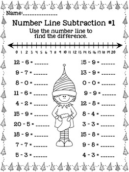 December Math Printables & Centers {Common Core Aligned}