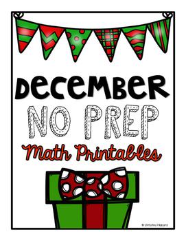 December Math Printables {FREEBIE}