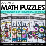 December Math Puzzles | Christmas Math Activities