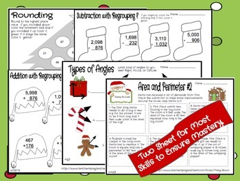 Math Printables-December