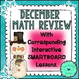 December Math Review Packet (with Corresponding SMARTboard Lessons)
