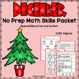 December Math Skills Packet - Special Education and Autism