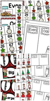 December Math Sorts - CCSS Aligned for Grades K-2