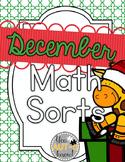 December Math Sorts - CCSS Aligned for Grades K-2