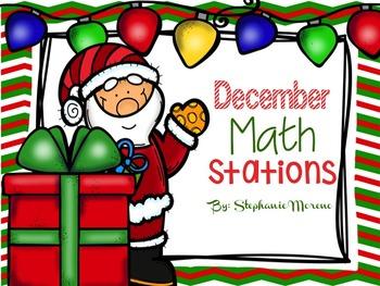 December Math Stations TEKS third grade