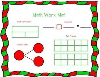 December Math Work Mat