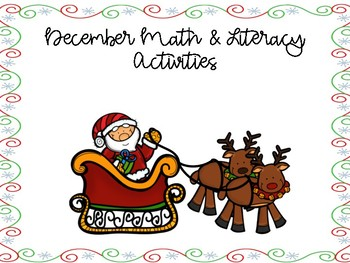 December Math and Literacy Activities