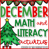 December Math and Literacy Activities Bundle