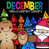 December Math and Literacy Centers for Kindergarten {CCSS}