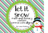 December Math and Literacy Centers {Common Core Aligned}
